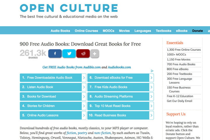 Download Audiobooks for Free at These Websites