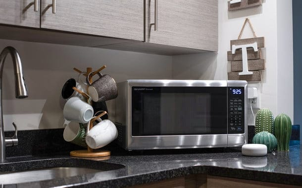 sharp smart countertop microwave alexa lifestyle