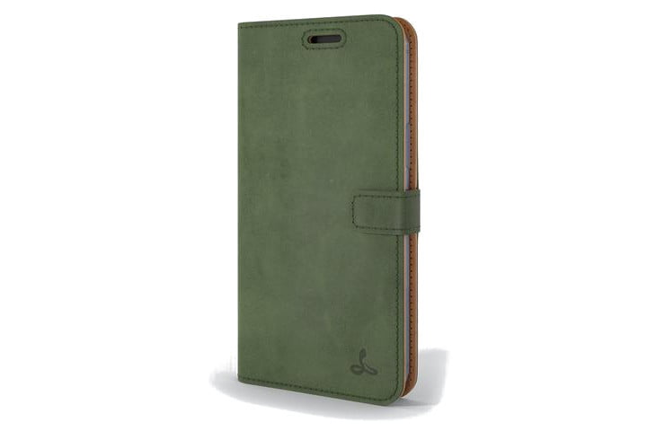 Snakehive Vintage Leather Wallet in green