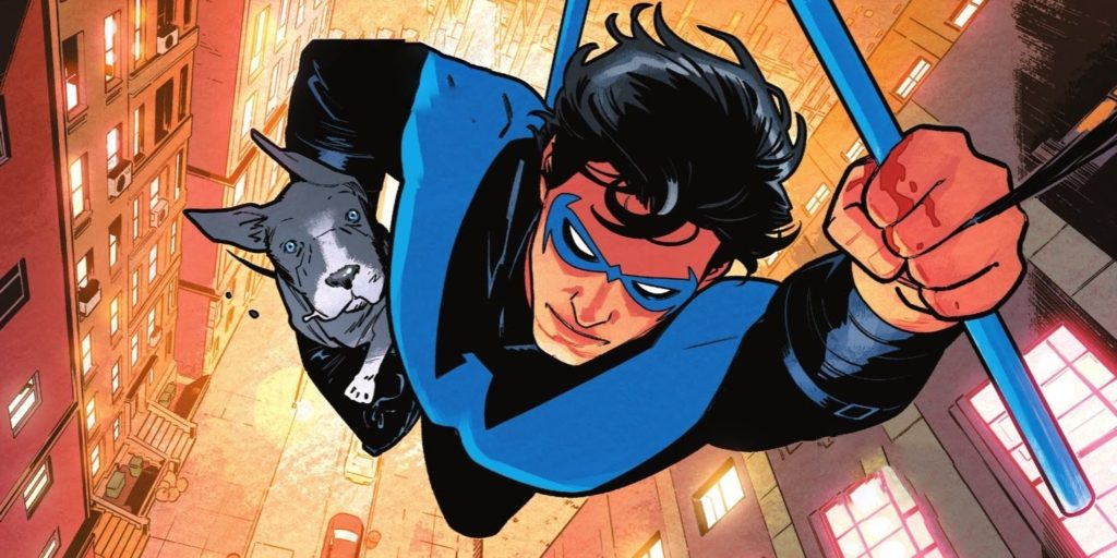 DC Writer Reveals Name Of Nightwing's New Puppy Partner