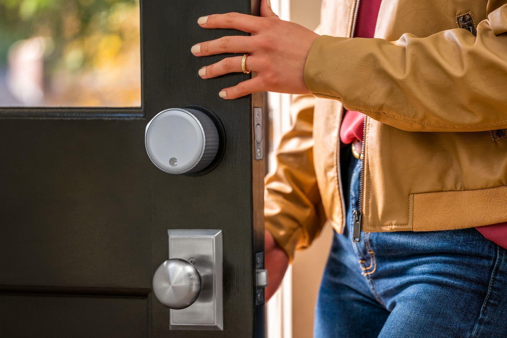 August Wi-Fi Smart Lock with open door