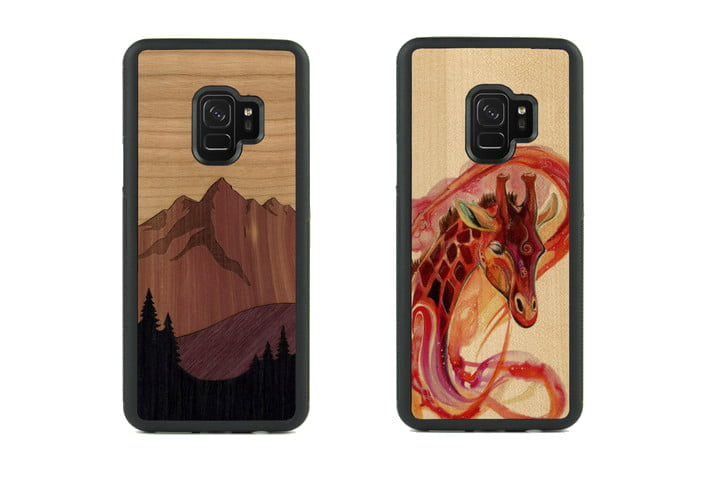 Carved Traveler Wood Case for Galaxy S9