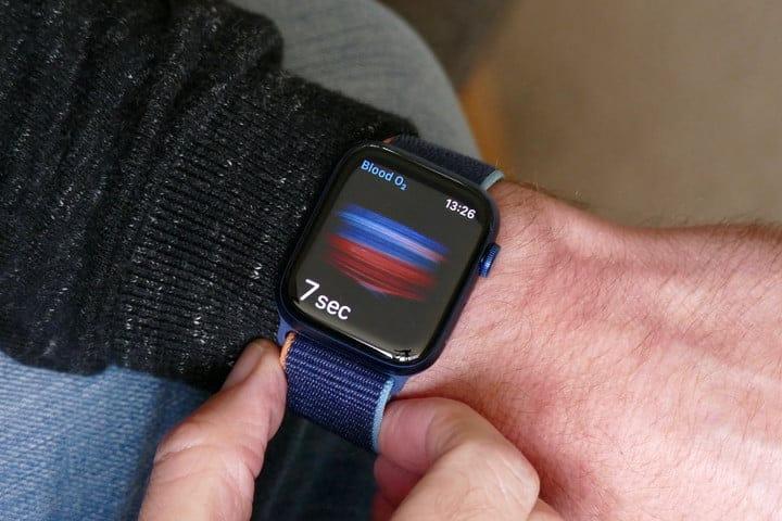 Blood-oxygen sensor on the Apple Watch Series 6.