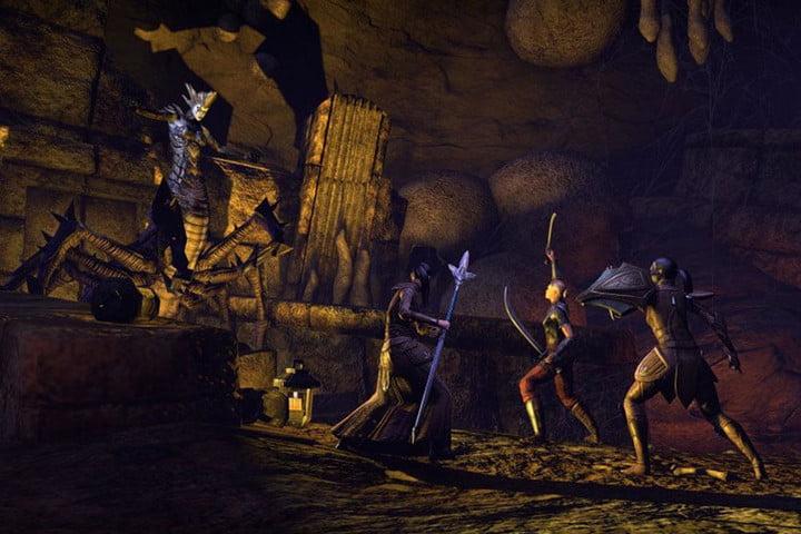 The Elder Scrolls Online combat.