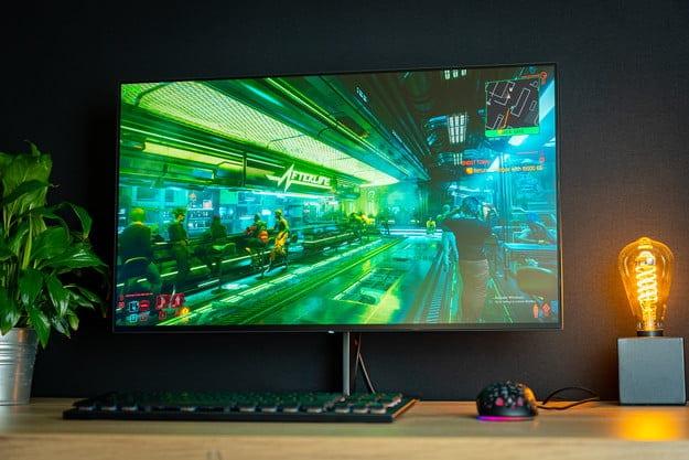 Eve Spectrum 4K Gaming Monitor Cyberpunk