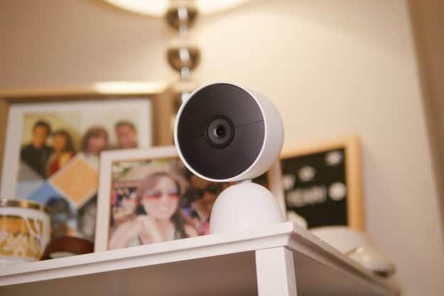 Google Nest Cam (battery) on table.