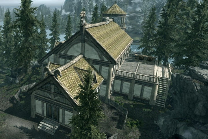 A house in Skyrim built with Hearthstone DLC.
