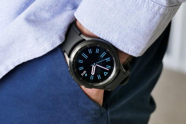 Galaxy Watch 4 Classic on the wrist.