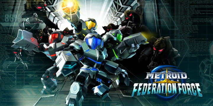 Galactic Federation Marines posing for cover of Metroid Prime: Federation Force.
