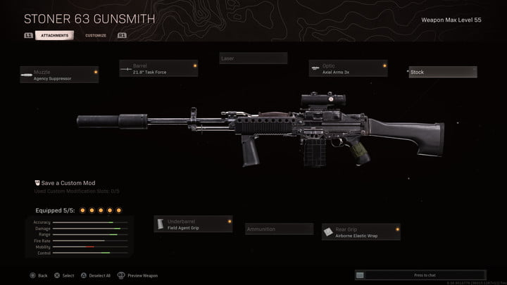 Stoner 63 in Call of Duty: Warzone.