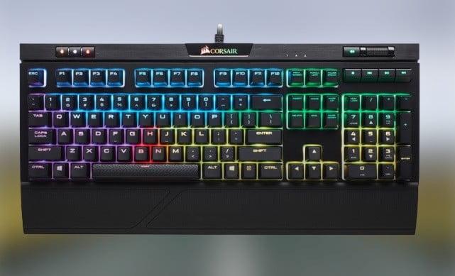 The Corsair Strafe RGB MK.2 keyboard.