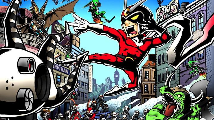 The iconic cartoon-style of Viewtiful Joe.