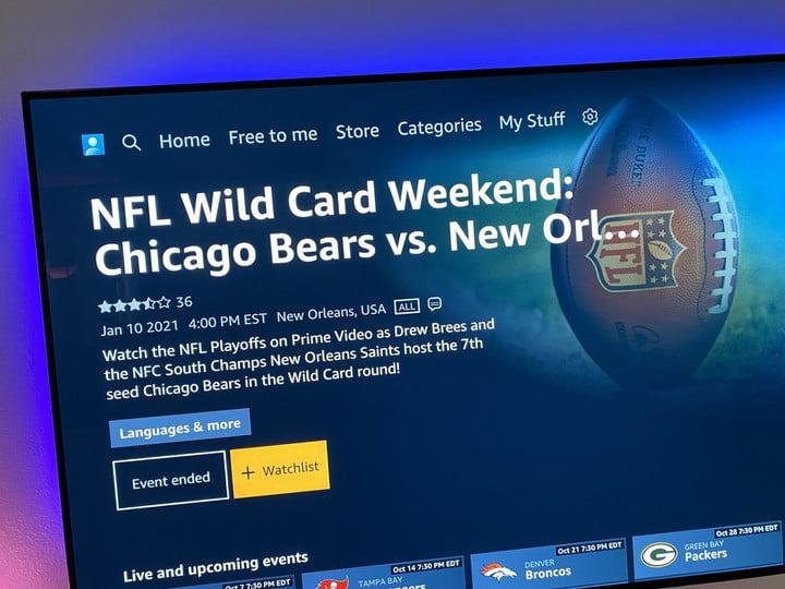 NFL games on Amazon Prime Video.