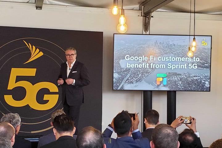 Image of Google Fi and 5G presentation.