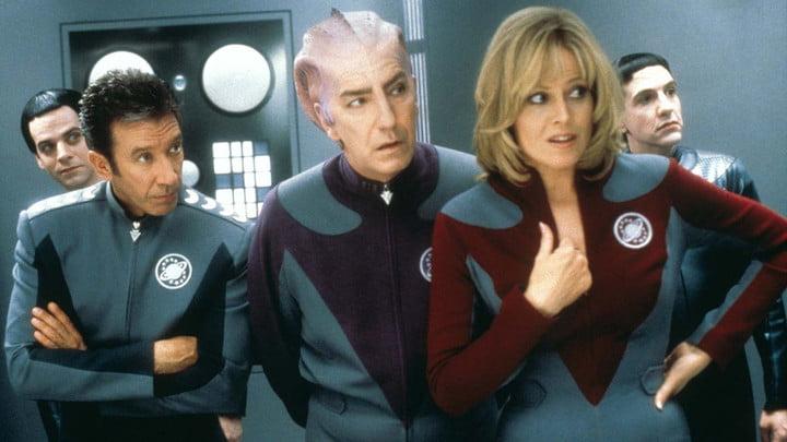 Tim Allen, Alan Rickman, and Sigourney Weaver in Galaxy Quest