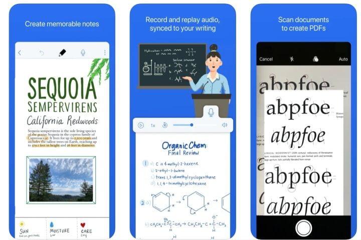 Notability app for iOS.